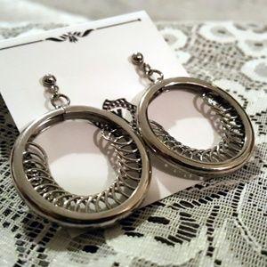 Artisan Stainless Steel  Hoop Post Earrings